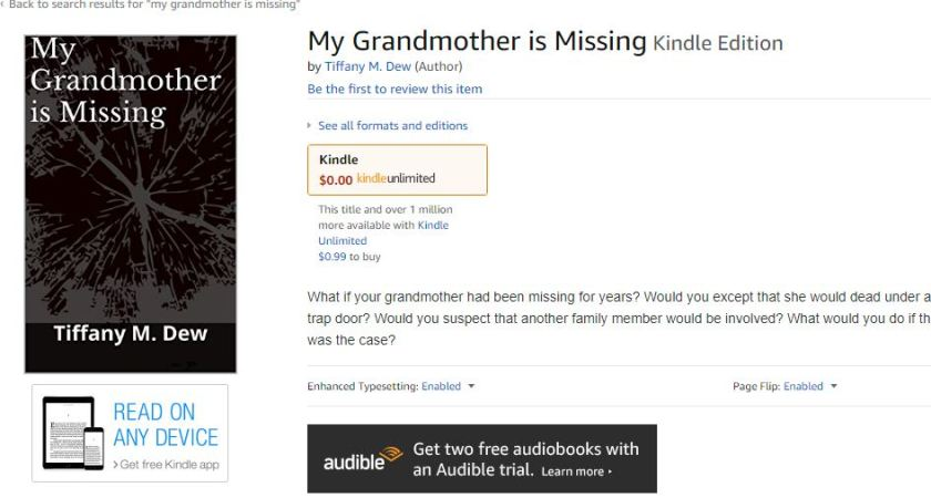 my grandmother is missing kindle page