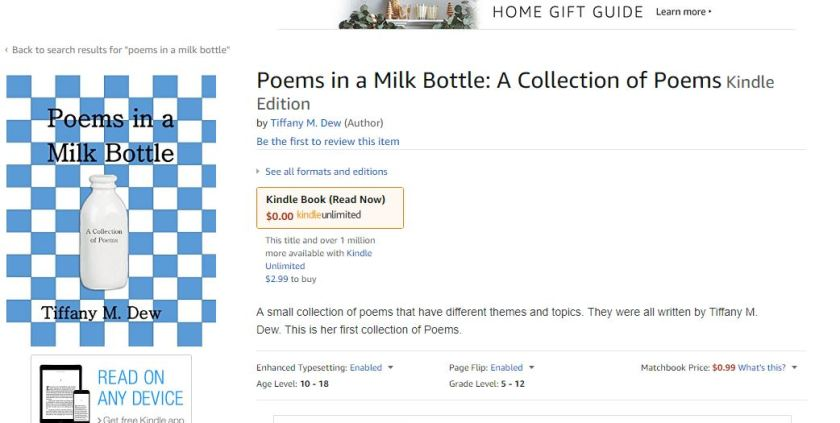poems in a milk bottle kindle page